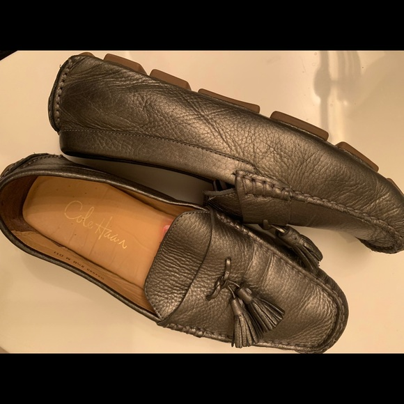 Cole Haan Shoes - Cole haan silver loafers